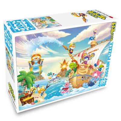 뽀롱뽀롱 뽀로로 직소퍼즐 100PCS : 해적섬의 여름