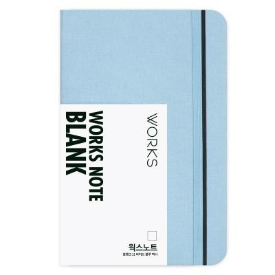 [무료 이니셜각인]웍스 노트 블랭크 11 라이트 블루 맥시