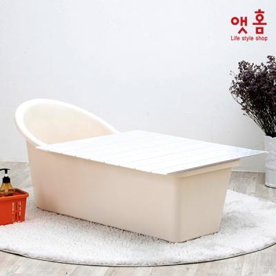 앳홈 이동형 웰빙 반식욕조 4종세트 (웰빙욕조, 비닐+마개, 샤워거치대, 물방울덮개)