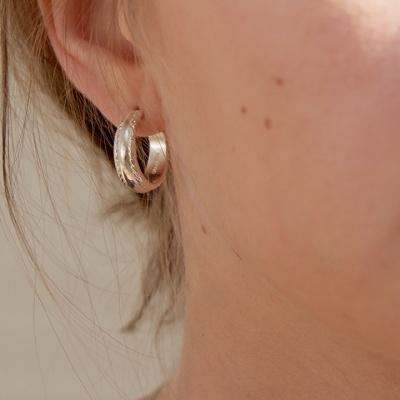 stitch hoop earring