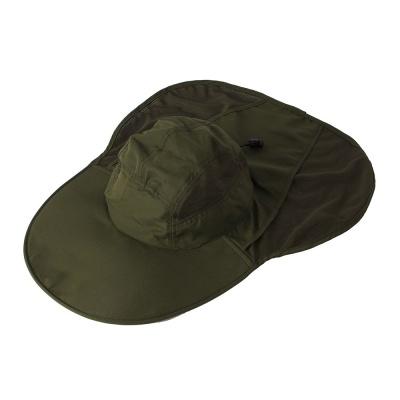 매쉬 아웃도어 모자 다크그린 정글모자 사파리모자