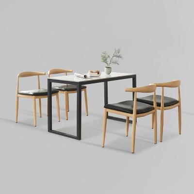 클레 세라믹 마블 식탁 세트B 1200 + 의자 4개포함 (