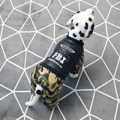 [펫딘]밀리터리 똑딱이 강아지옷 올인원 카키
