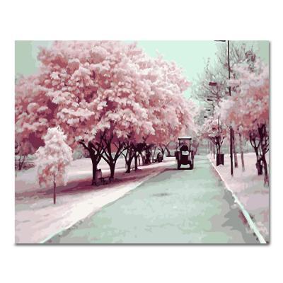 DIY 페인팅 핑크나무도로 PH33 (50x40)