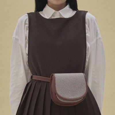 [펀프롬펀]Kate mini bag_check (brown)