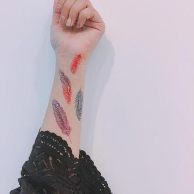 페이퍼셀프 타투스티커 - 10. Colour Feathers