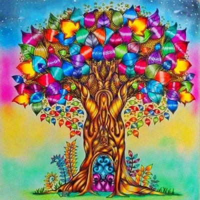 [피포페인팅]GX5936 Rainbow Candy Tree size 40*50