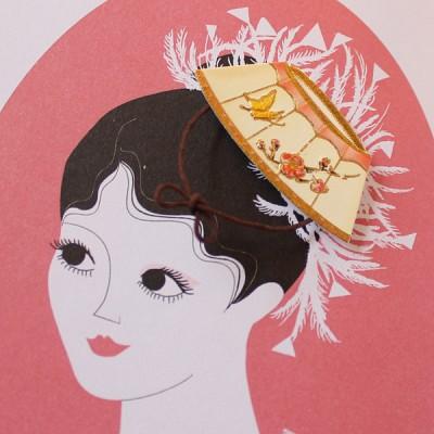 여인의 장신구 전통스티커 / 030-SK-0011
