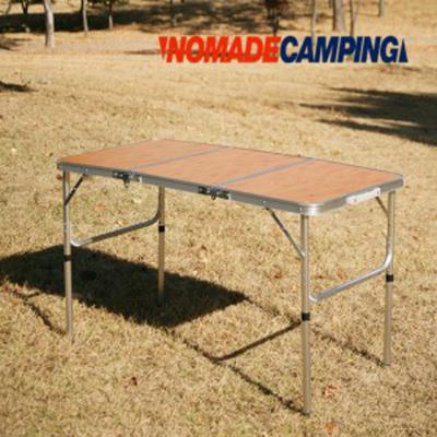 노마드  밤부 3 단캠핑테이블 (120x60)/캠핑테이블