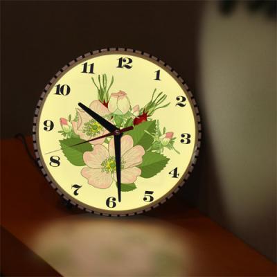 nf185-LED시계액자25R_아름다운꽃시계