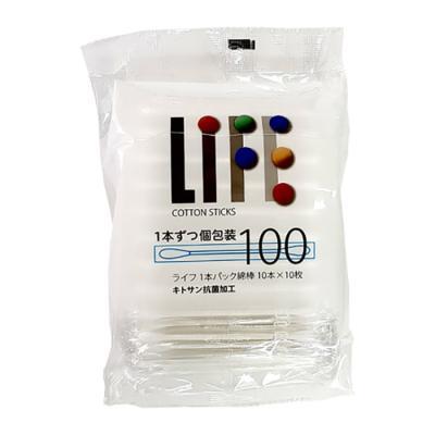 LIFE 향균순면면봉 100개 개별포장 안심소독면봉 5988