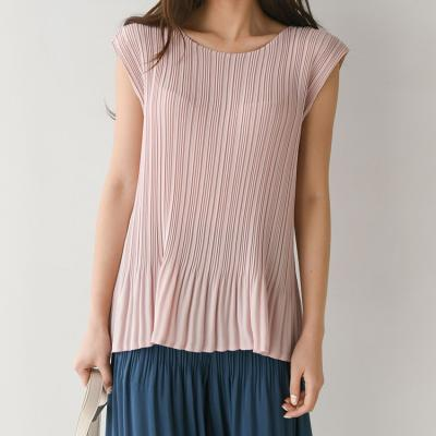 Pleats Nana Double Flare Top - 민소매