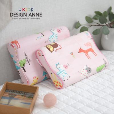 [디자인엔] 순면 애니멀즈 아동메모리폼베개-핑크