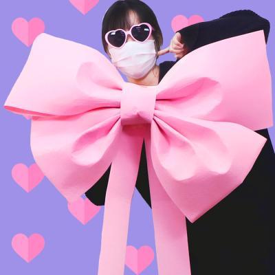 DIY 초대형 리본 (핑크) 인간화환 이벤트 웨딩카 장식