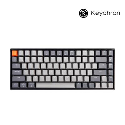 Keychron 게이밍 84키 기계식키보드 RGB 라이트그레이