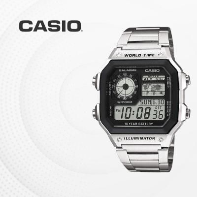 카시오 빈티지 메탈 전자 손목시계 AE-1200WHD-1A