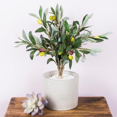 조화 올리브 화이트 스톤 나무