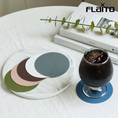 국산 원형 실리콘 논슬립 티코스터 위생 컵받침 Brown