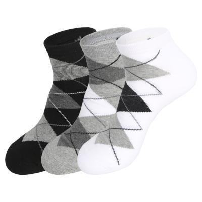[쿠비카]빅사이즈 아가일 패턴 단목 남성양말5족 S172
