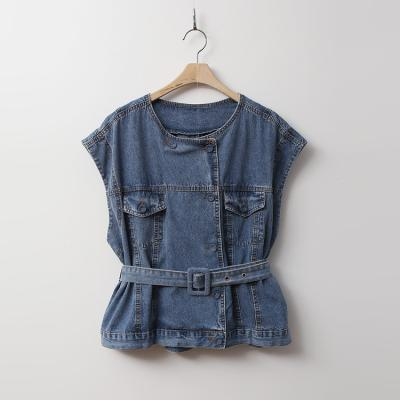 Denim Belt Vest