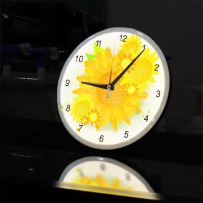 ng517-LED시계액자25R_노란해바라기꽃