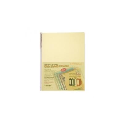[문화산업] 레일클리어홀더F490A-7 노랑 [속10] 115873