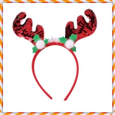 크리스마스 머리띠 모음 파티용품 X-MAS (스팽글-R)