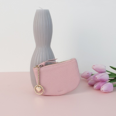 [이니셜 커스텀] Half moon wallet _ Pink