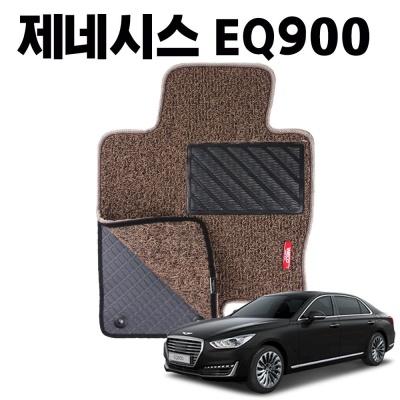 EQ900 이중 코일 차량 차 발 깔판 바닥 카 매트 Brown