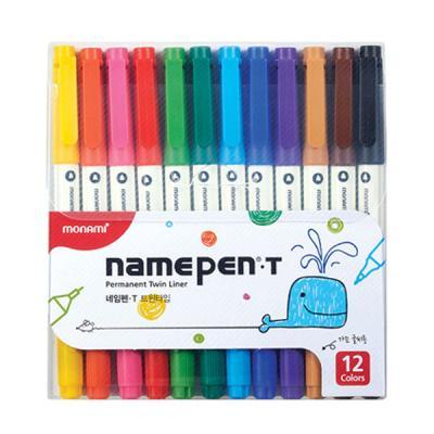모나미 네임펜 T 트윈타입 12색 세트 싸인펜