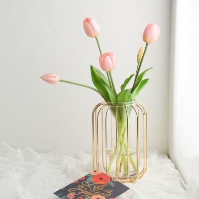 로즈골드 철재 유리꽃화병 와이어 프레임 (소)