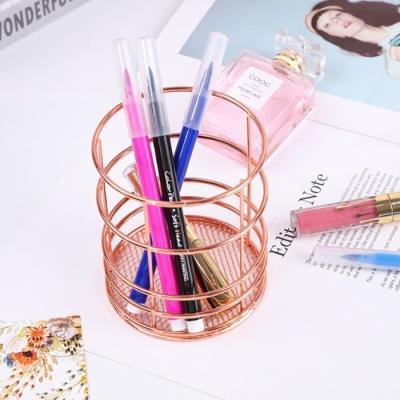 갓샵 로즈골드 메탈 연필 펜꽂이 홀더 책상데스크정리