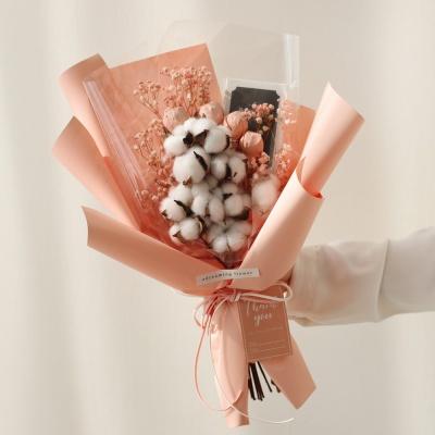 화이트데이 수제초콜릿 목화안개 사탕꽃다발