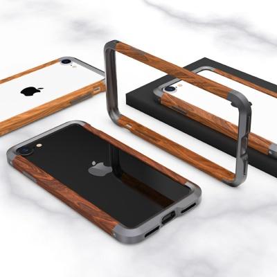 아이폰11 PRO MAX XR XS SE2 8 메탈 우드 범퍼 케이스