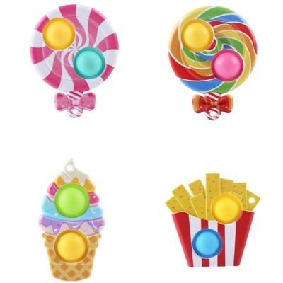 귀여운 간식 하드 팝잇 푸쉬팝 열쇠고리 키링 장난감