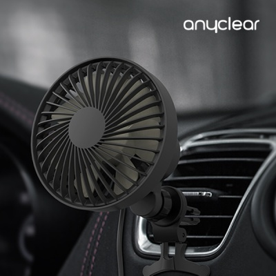 애니클리어PDB-ACF30 차량용 거치대 자동회전 선풍기