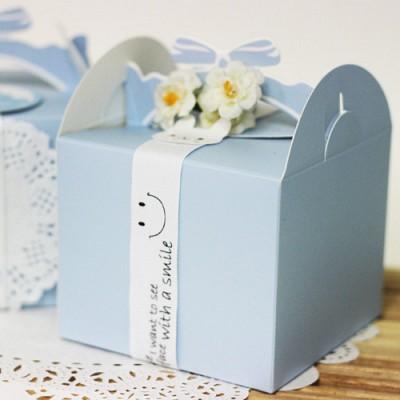 선물용돌떡리본상자-블루