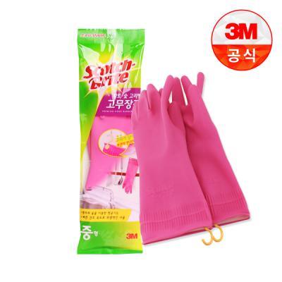 [3M]황토숯 고리형 고무장갑(중)