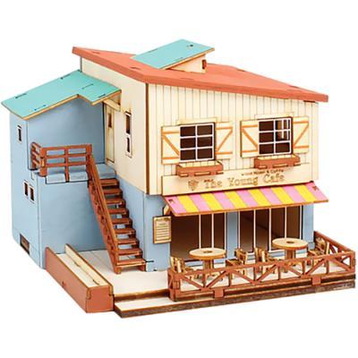 1/87 목재 입체퍼즐 - 영공방 카페 하우스