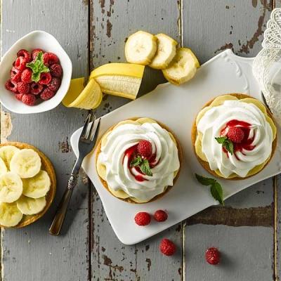 바나나 크림 라즈베리 타르트 만들기 DIY 베이킹 쿠킹박스