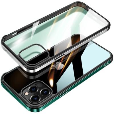 아이폰SE2 8 7+ 컬러라인 범퍼 투명 강화유리 케이스