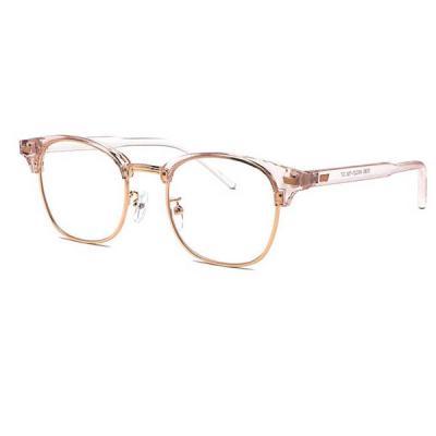 shine 투명 핑크 반뿔테 안경 뿔테 패션안경 안경테