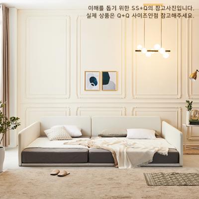 레이백 슬림 패밀리침대 ㄷ형 Q+Q (매트포함)