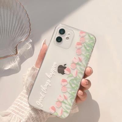 아이폰 케이스 12 11 프로 맥스 미니 X 8 고링 플라워