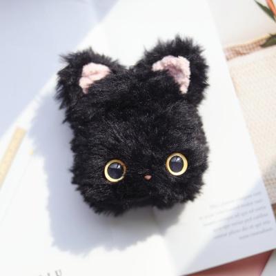 에어팟 1 2 고양이 인형 실리콘 털 케이스_블랙 507