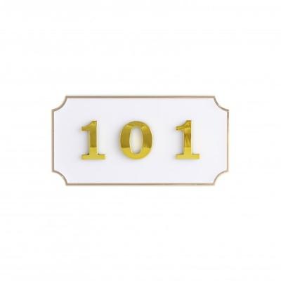 호실판 41OZ17 사각 흰색 안내판 표지판 숫자 번호 O