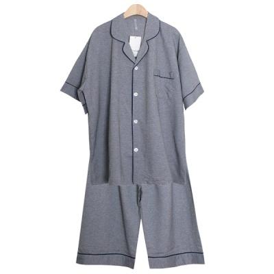 [쿠비카]솔리드 카치온 반소매 카라넥 남성잠옷 M222