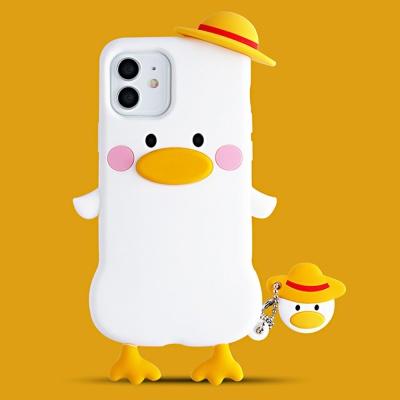 아이폰12 미니 pro max 오리 캐릭터 핸드폰줄 케이스