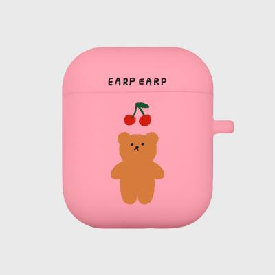 Cherry big bear-pink(Air pods)