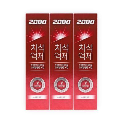 2080 강력한 치석케어 치석억제치약 스트롱민트향 3ea